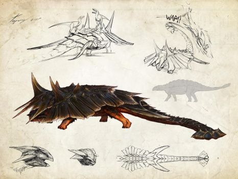:hyperendocrin ankylosaurus: by Tapwing