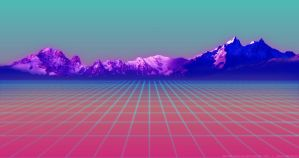 Mountain Grid - VaporWave by DavidFigueira