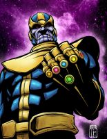 Thanos with Gauntlet by JarOfComics