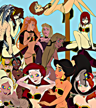 The Twelve Belly Dancing Princesses by hypnotica2002