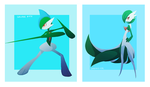 Gallade Gardevoir by tinhan