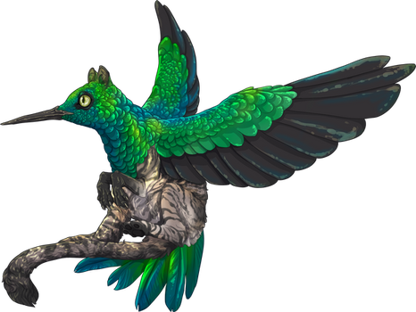 Jade Humming Griffin by The-Below