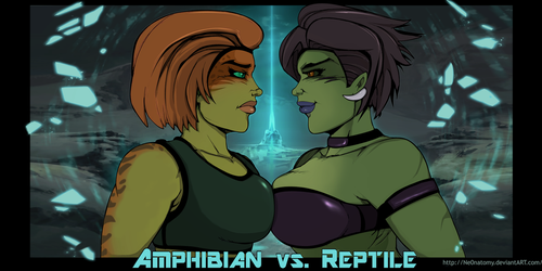 Amphibian vs. Reptile by Chronorin