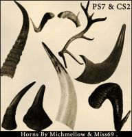 Horn Brushes PS7 by miss69-stock