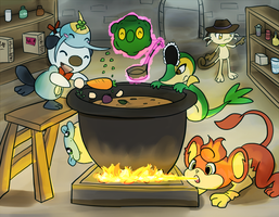 March Task - Amanda and too many cooks by Tonko