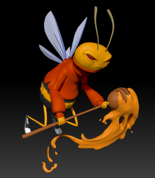Buzz Bee 3D Model by dippydude