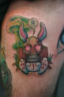 Nuclear Bunny by Lucky-Cat-Tattoo