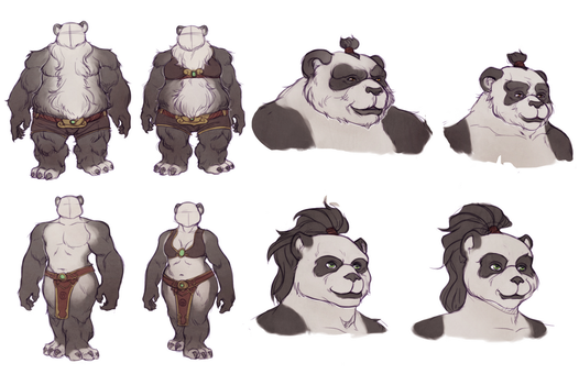 Sexual Dimorphism in WoW Pandaren by huldahuoleton