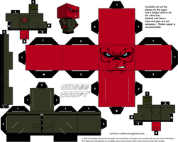 Red Skull cubeecraft by JagaMen