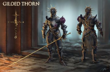 Gilded Thorn Armor by arvalis