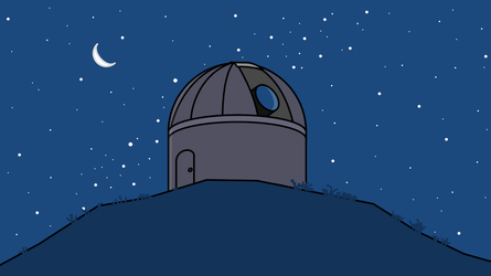 Observatory at Night by xwindows
