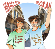 [APH] dorks in their dork shirts by melondramatics
