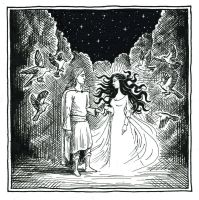 The Meeting of Thingol and Melian (Inktober Day 4) by MatejCadil