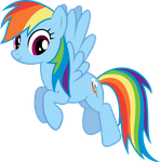 Rainbow Dash Hovering by WorldsSmallestGiant