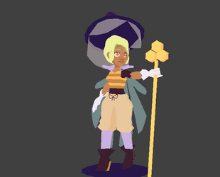 Pia- Lowpoly 3D Model by follyknight