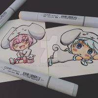 Audi: Cinnamoroll Chibi Couples pt2 -colored- by mscherbear