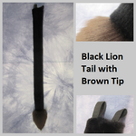 Black Lion Tail with Brown Tip by Lascivus-Lutra