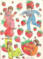 Beatles and Strawberries by aruanahansel