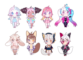 chibi adoptables [closed] by MikkuAdopts