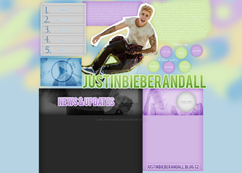 Justin Bieber layout 5 by VelvetHorse