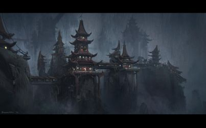 Chinese Temple by Bogdan-MRK