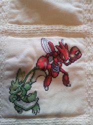Pokemon quilt cross stitch - Square 5 by cardinalchang