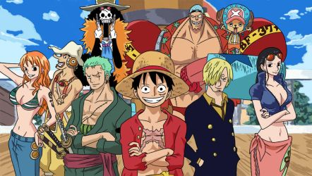 Straw hat crew - Tablet ink and colour practise by Atomicvege
