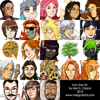 Icon Day 03 Compilation by melgcabral