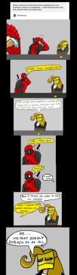 Chainsaw Vigilante and Deadpool comic #12 by arcanineryu