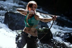Lara Croft: Hunting by JennCroft