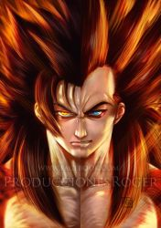 Goku-Vegeta SSJ 4 by RogerGoldstain