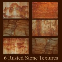 6 Rusted Stone Textures by deadcalm-stock
