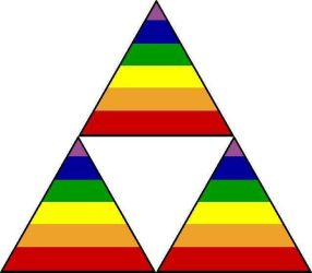 Triforce of Pride by KidenStormsoarer