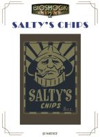 Salty's Chips Label by Whatpayne
