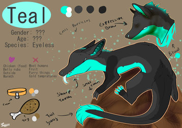 Teal (ref) by jazzyloveswolves