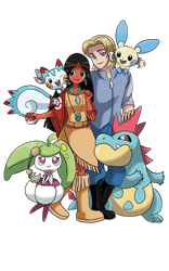 Commission : John/Pocahontas with their pokemons by Pavlover