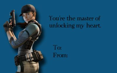 Tacky RE Valentines-Jill Valentine by Isobel-Theroux