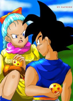 Goku and Bulma by saphire