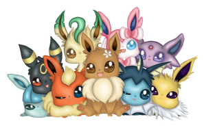 Eeveelution Family Photo by Eineko