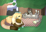 Picnics With Friends by Strawberry-Otter