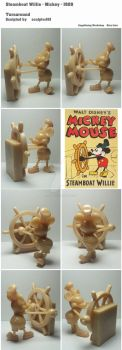 Steamboat Willie - Mickey - 1928 by sculptor101