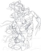 TMNT sketches by RUFIX