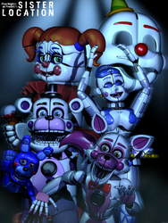C4d | Sister Location: In the Circus of the Dead! by The-Smileyy