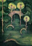 Bridge in the Park by yanadhyana