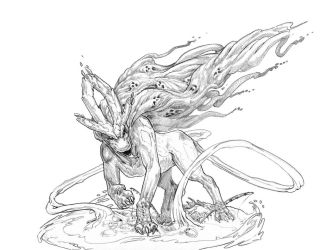 Suicune linework by Stephen-0akley