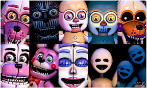 FNAF SL Pack - Custom Night Remake by jorjimodels