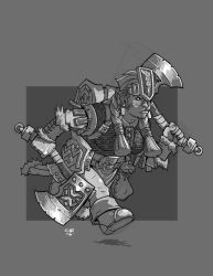 Dwarf Barbarian by cwalton73