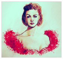 Scarlett -sketchy watercolors- by Sycil