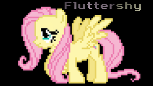 Pixelized Fluttershy Wallpaper by LegoGuy87