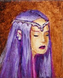 Aria - Miniature Painting by Orchid-Black